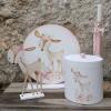 Σετ βαπτιστικών ξύλινη καπελιέρα, λαμπάδα, διακοσμητική φιγούρα & centerpiece για CandyBar Ελαφάκι